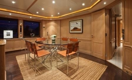 Eating/dining Upon Premier Deck On Board Yacht AFRICAN QUEEN