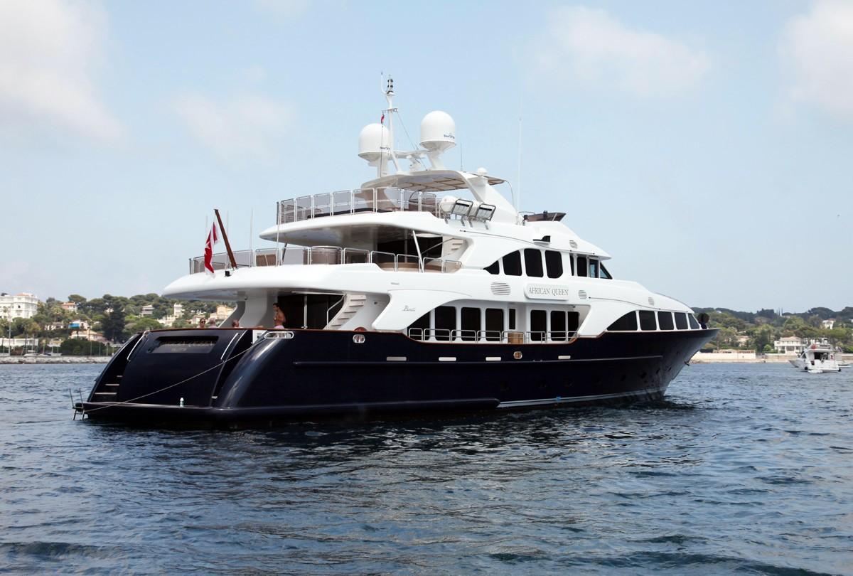 Aft Aspect Aboard Yacht AFRICAN QUEEN