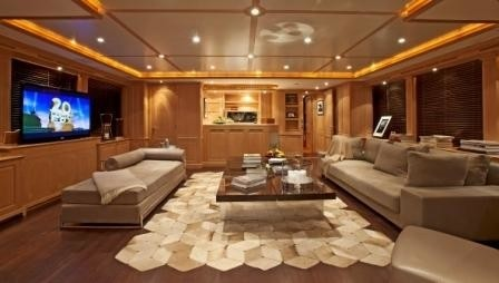 Top Lounging Aboard Yacht AFRICAN QUEEN