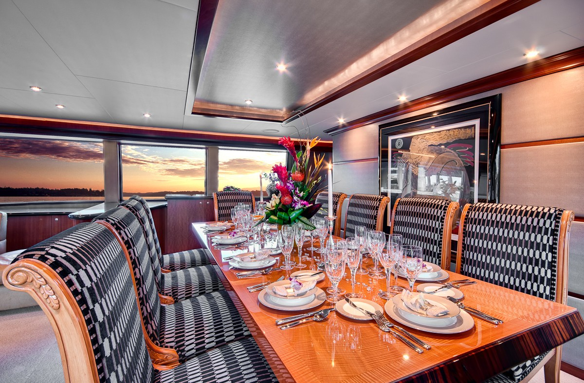 Eating/dining Furniture Aboard Yacht ANDIAMO