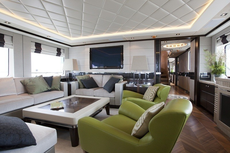 Profile: Yacht AURELIA's Saloon Pictured