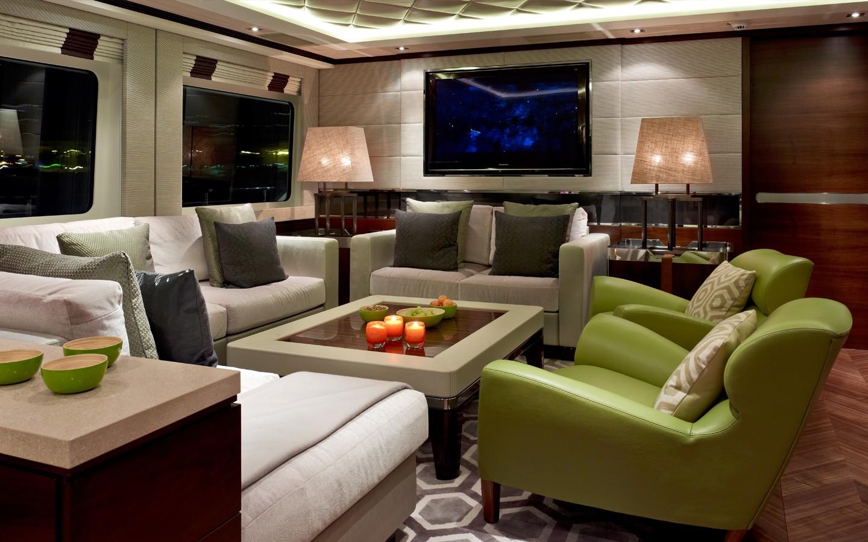 Evening: Yacht AURELIA's Saloon Image