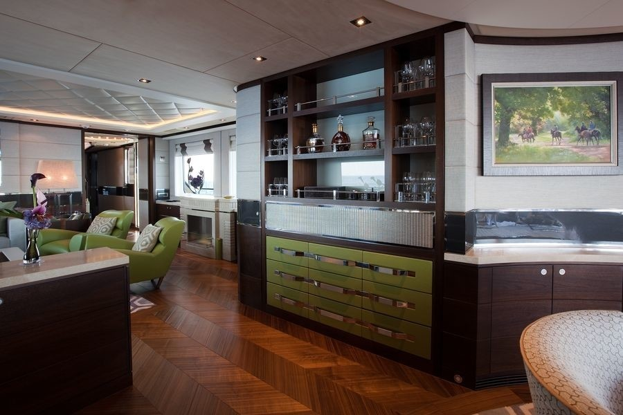 Saloon Drinks Bar On Board Yacht AURELIA