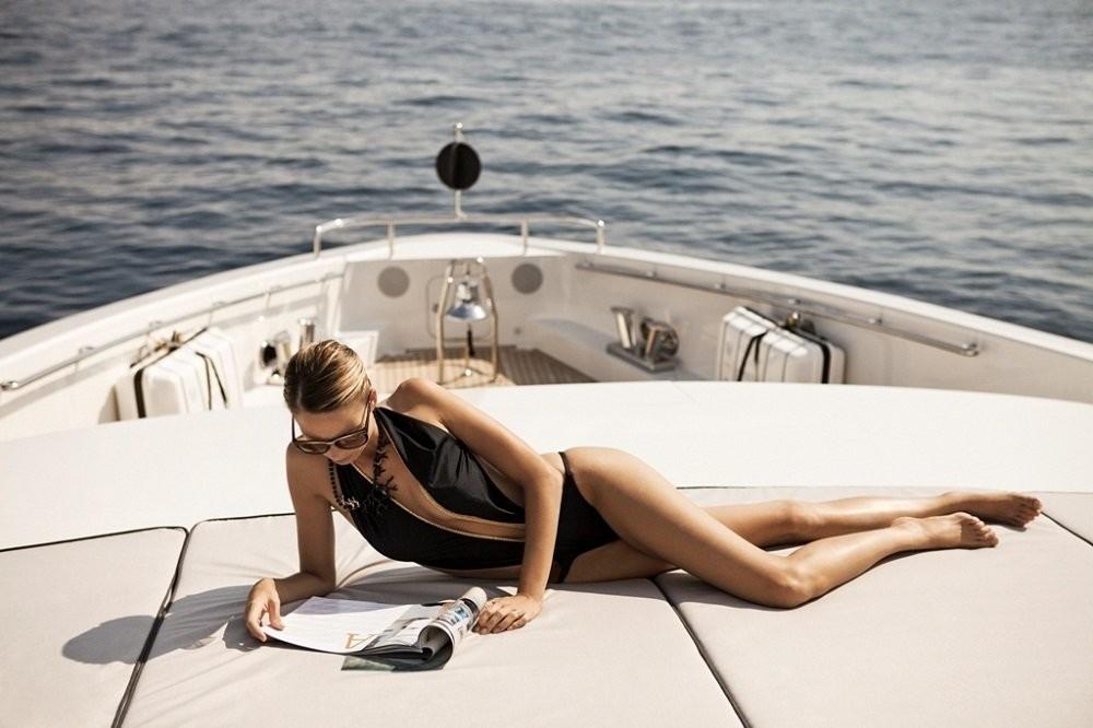 Sunbeds Aboard Yacht AURELIA