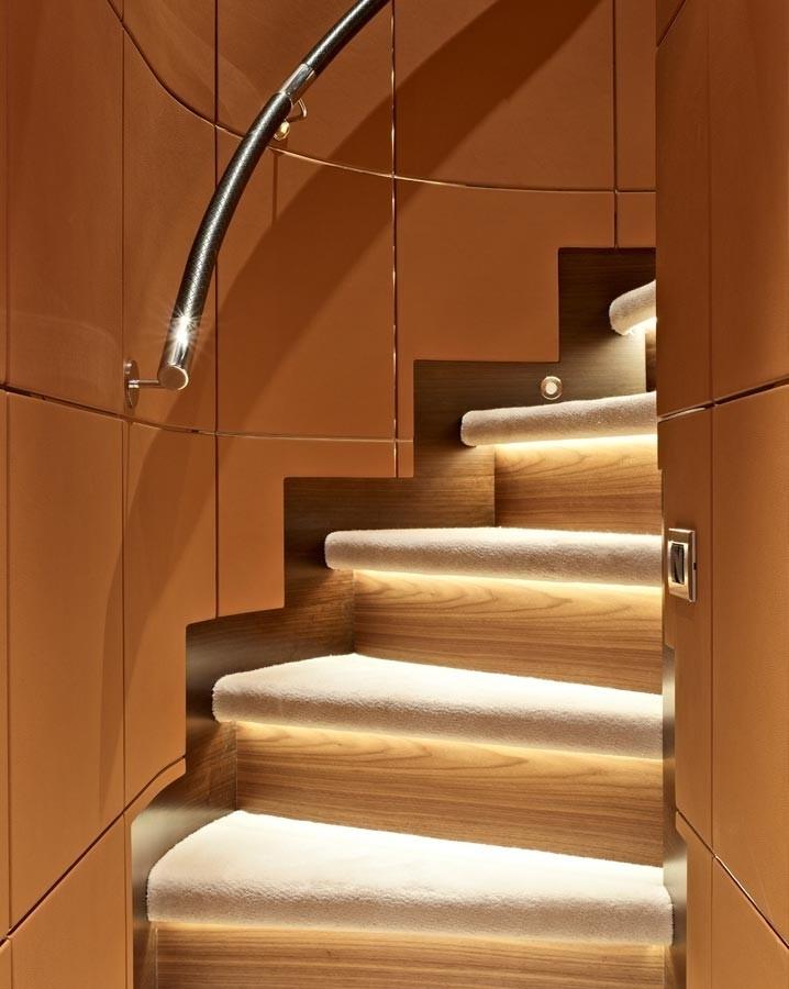 Close Up: Yacht AURELIA's Stairway Pictured
