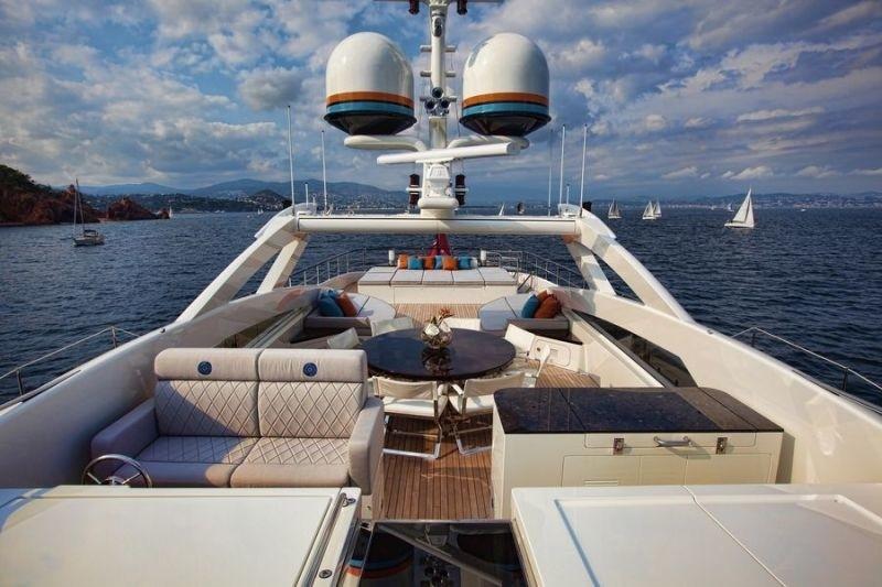 Sun Deck On Board Yacht AURELIA