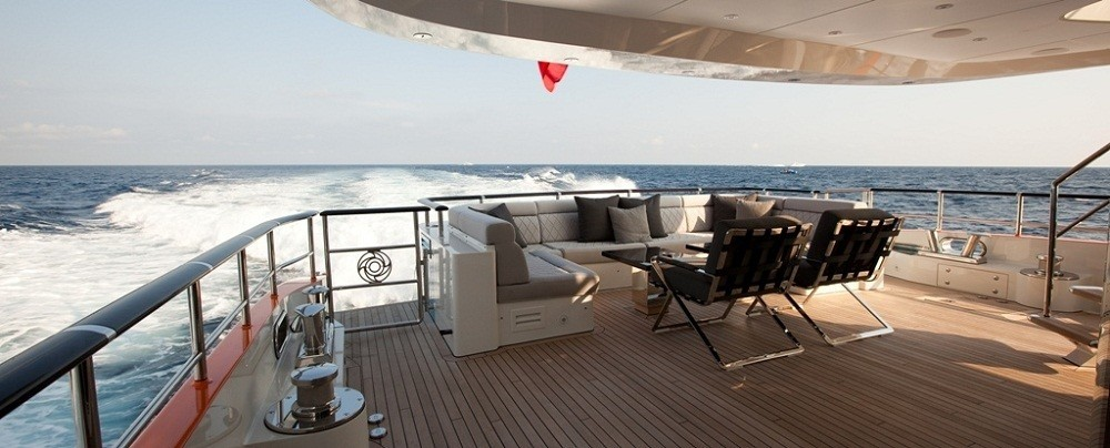 Aft Deck Sitting On Board Yacht AURELIA