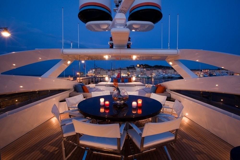Outdoor Eating/dining On Yacht AURELIA