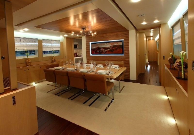 Eating/dining Saloon Aboard Yacht ESPRESSO
