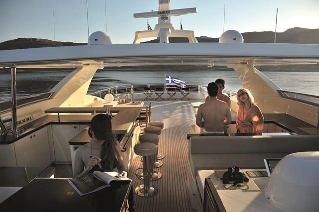 Fly Bridgedeck On Yacht ESPRESSO