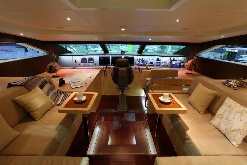 Bridgedeck Sitting On Board Yacht ESPRESSO