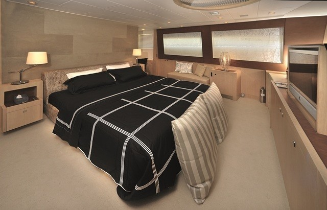 Main Master Stateroom On Board Yacht ESPRESSO