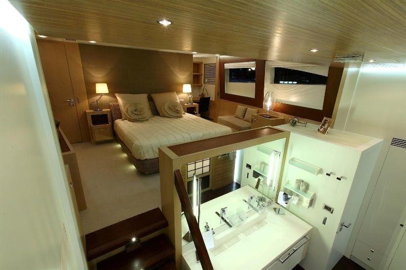 Main Master Cabin With Bath Aboard Yacht ESPRESSO