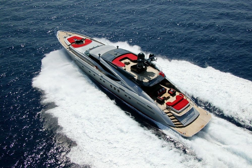 From Above: Yacht DRAGON's Cruising Image