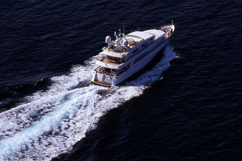 Aft Aspect: Yacht OURANOS TOO's Cruising Captured