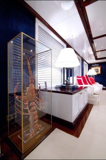 Saloon Close Up On Board Yacht OXYGEN
