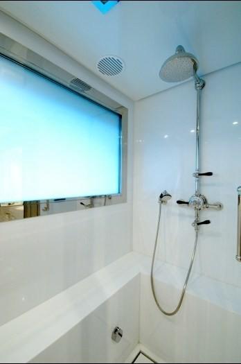 Showering Area On Board Yacht OXYGEN