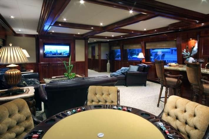Furniture: Yacht FAR FROM IT's Saloon Photograph