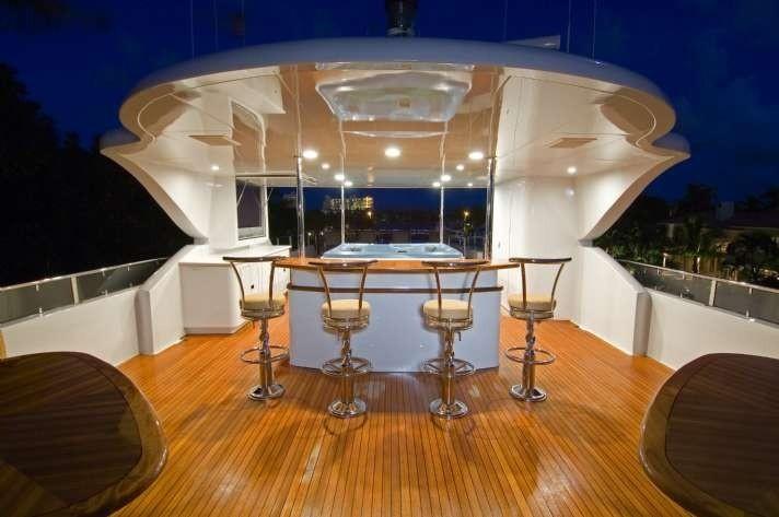 External Drinks Bar On Board Yacht FAR FROM IT