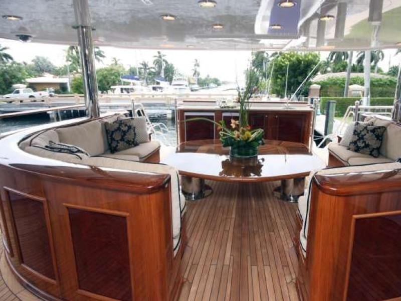 Saloon Upon Premier Deck On Yacht FAR FROM IT