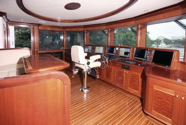 Pilot House On Board Yacht FAR FROM IT