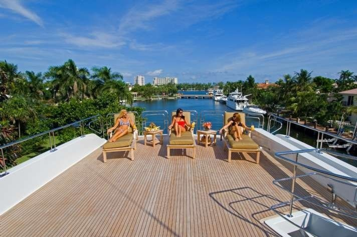 Sun Deck Aboard Yacht FAR FROM IT