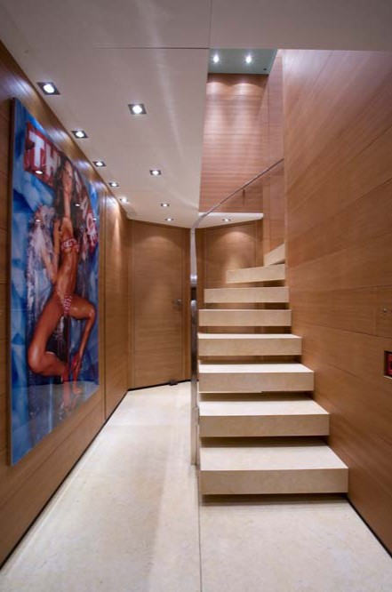 Close Up: Yacht SEAKID's Staircase Pictured