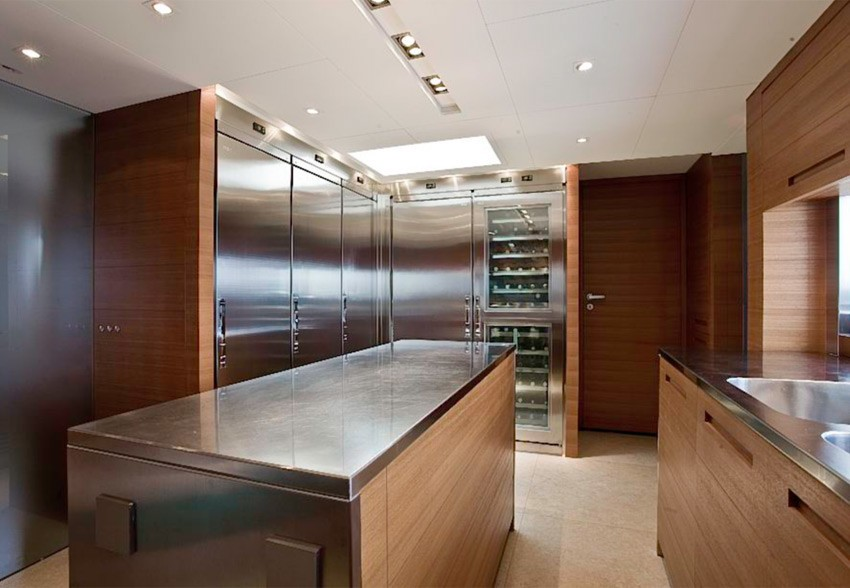 Ship's Galley On Board Yacht SEAKID
