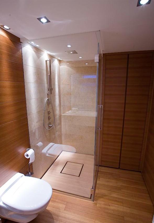Showering Aboard Yacht SEAKID