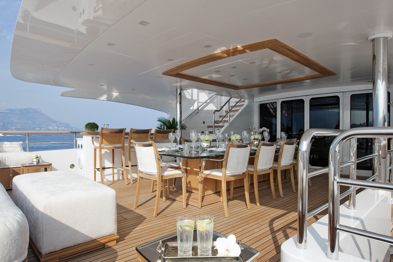 Premier Deck Aft Aboard Yacht WILD ORCHID I
