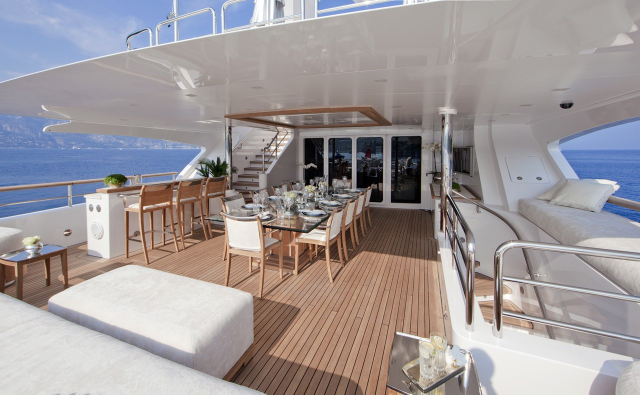 Top Deck Aft On Yacht WILD ORCHID I