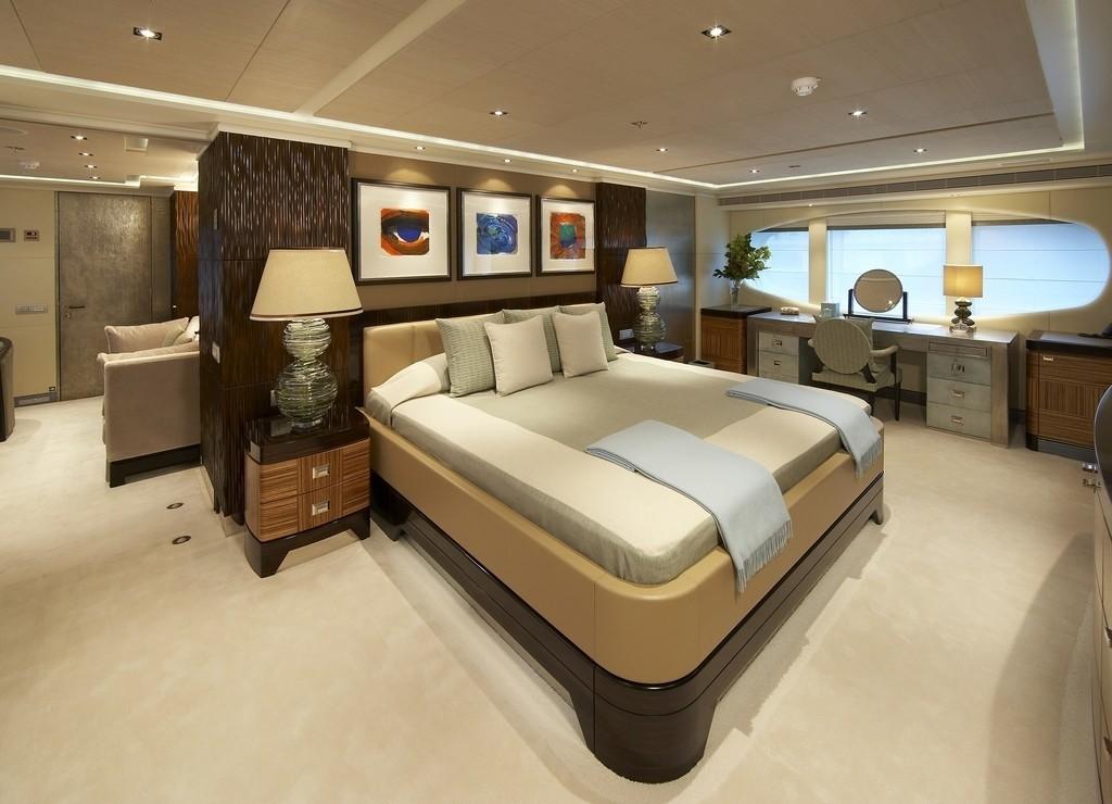 Main Master Cabin Aboard Yacht RAASTA