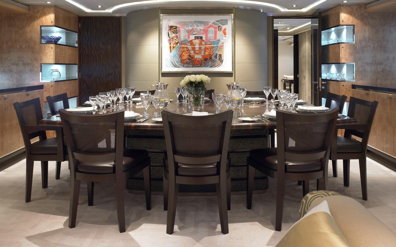 Furniture: Yacht RAASTA's Eating/dining Saloon Image