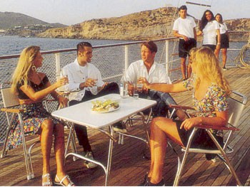 Deck Eating/dining On Board Yacht SEA CROWN