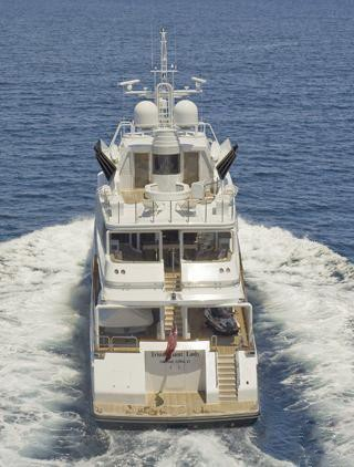 Aft Decks On Board Yacht TRIUMPHANT LADY
