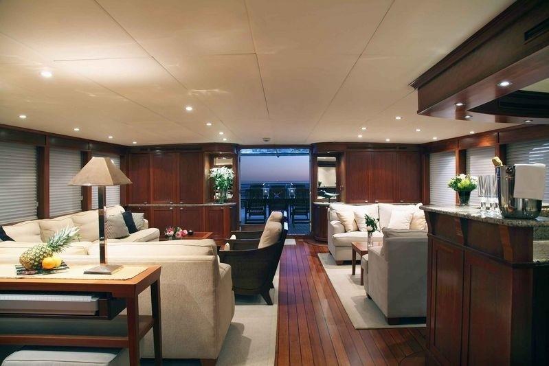 Aft Aspect: Yacht ASTERIA's Saloon Captured