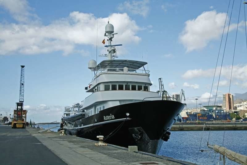 Stationary Aboard Yacht ASTERIA