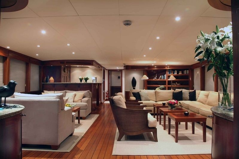 Fore Aspect: Yacht ASTERIA's Saloon Photograph
