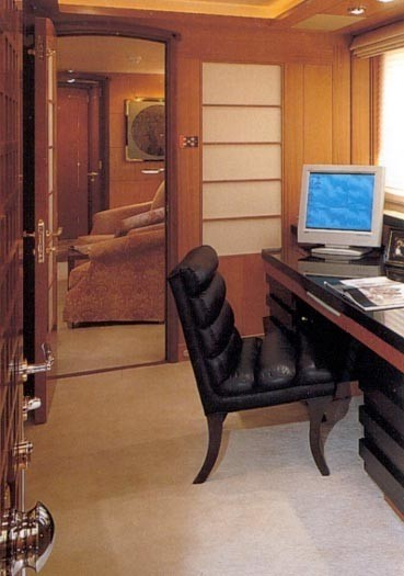 Main Master Office On Yacht HERCULINA