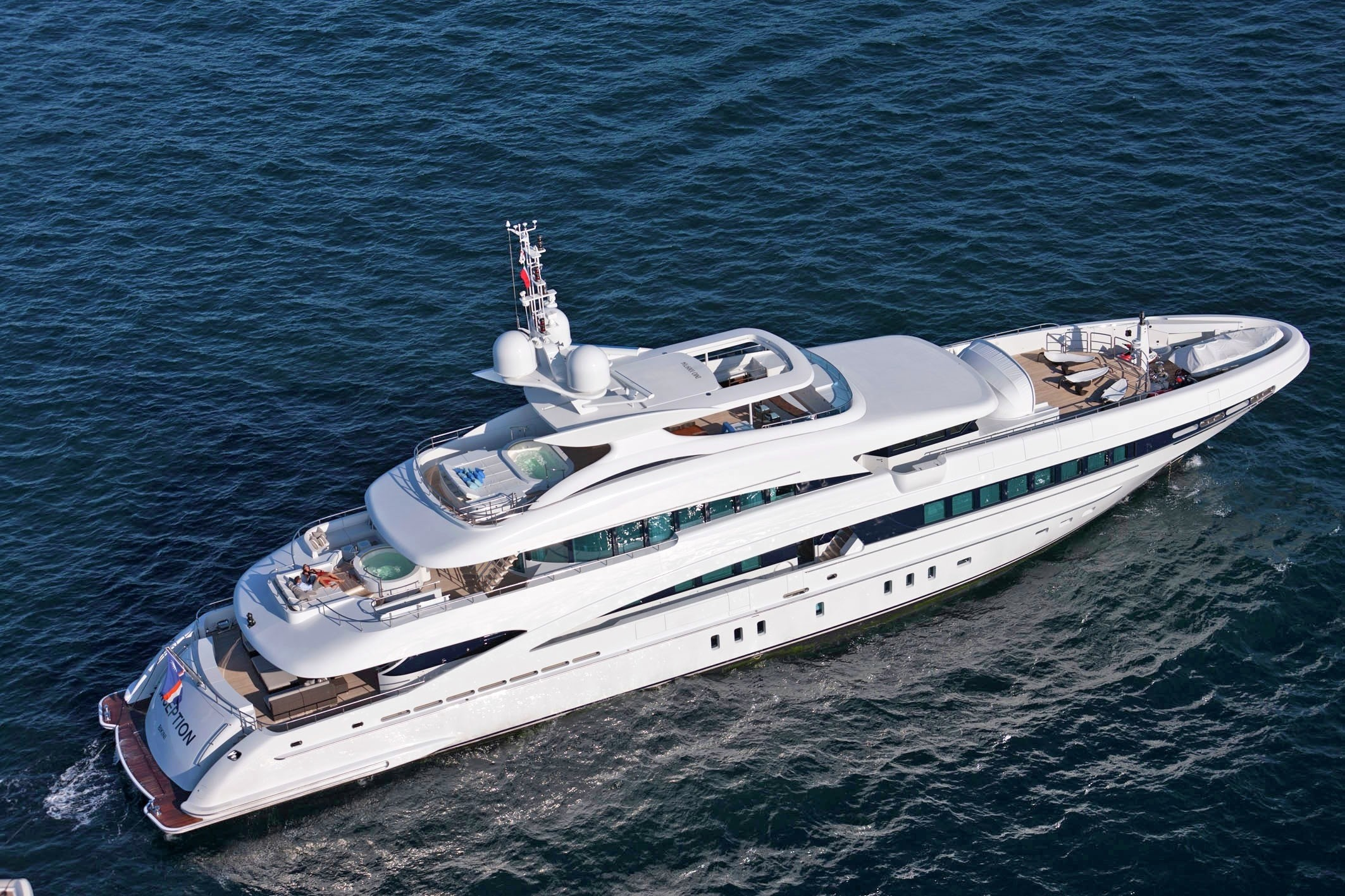 From Above Aspect On Yacht INCEPTION