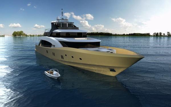 Ship's Tender: Yacht LA PELLEGRINA's Artist Rendering Pictured
