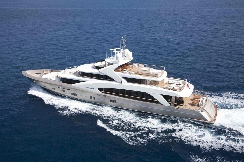 From Above Aspect On Board Yacht LA PELLEGRINA