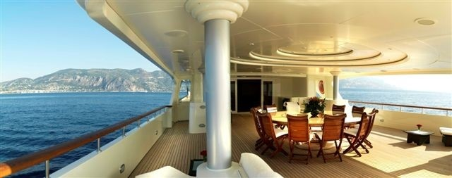 Profile Aspect: Yacht TOMMY's Top Aft Deck Pictured