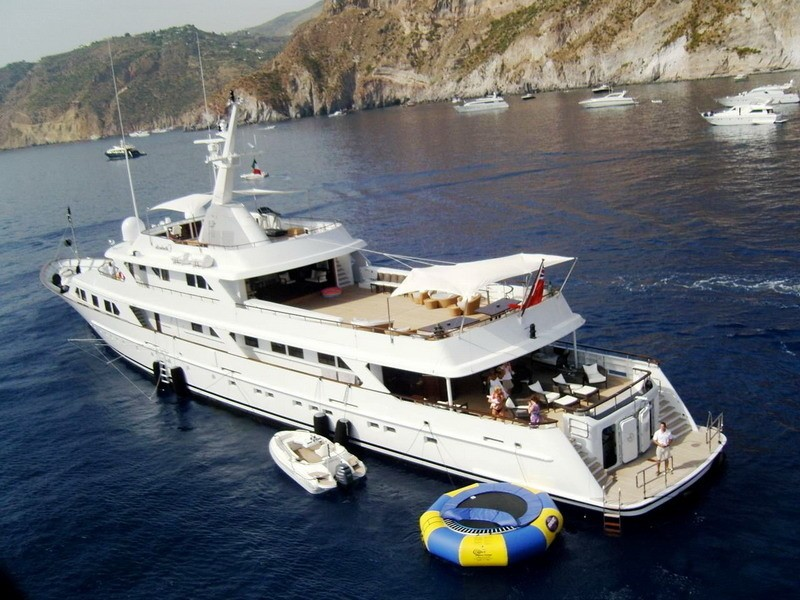 Aft Aspect Aboard Yacht MIRAGE