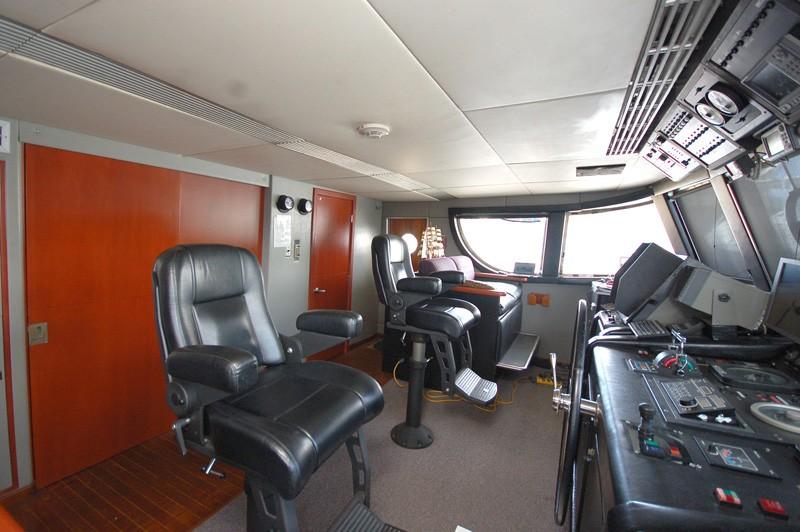 Pilot House Aboard Yacht STARGAZER