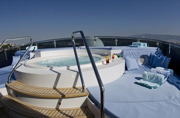 Sunshine Deck Jacuzzi Pool On Yacht MESERRET II