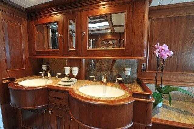 Guest's Bath On Yacht ATHOS