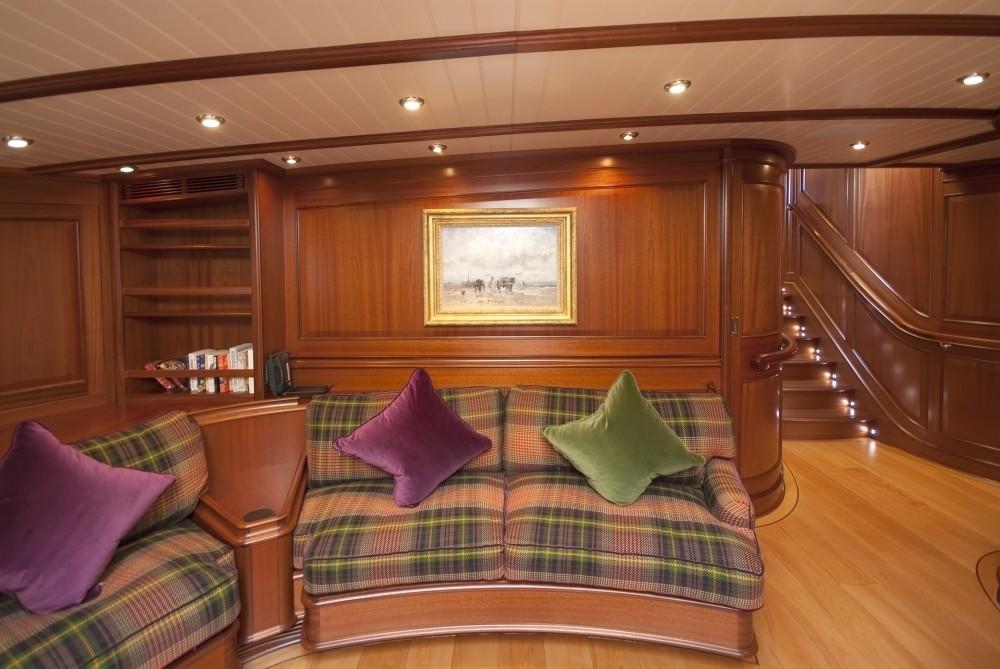Inside Sitting On Board Yacht ATHOS