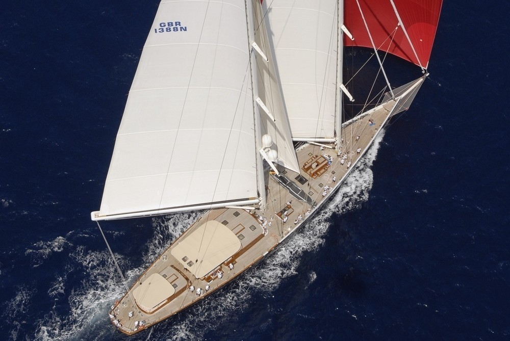 From Above: Yacht ATHOS's Aft Aspect Pictured