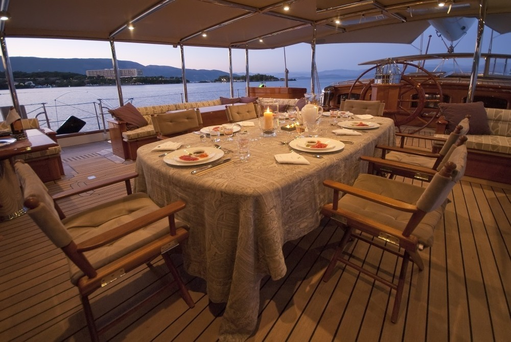 Al Fresco Eating/dining On Yacht ATHOS